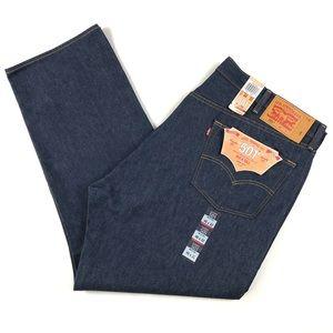 Levis 501 Mens Button Fly Raw Denim Big Tall Jeans